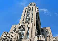 Photograph of the university's Cathedral of Learning