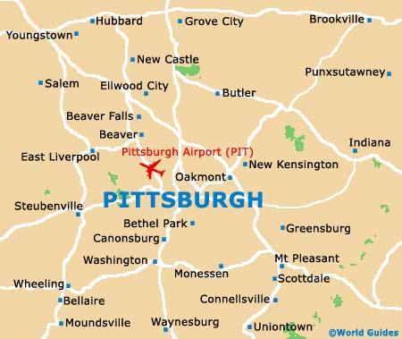 Small Pittsburgh Map