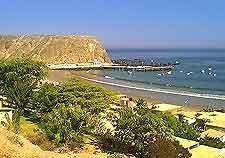 Coastal beachfront view