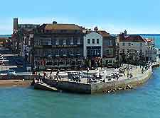 Picture of shops overlooking the waterfront