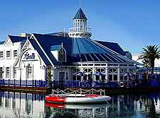Picture of restaurant overlooking the Casino Lake