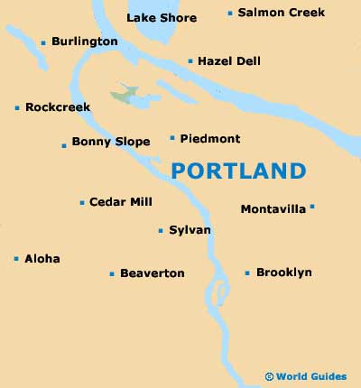 Portland Maps And Orientation Portland Oregon  OR USA