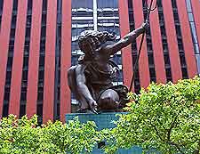 View of the Portlandia Statue
