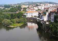 View of Amarante town close to Porto