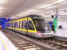 Modern metro system in Porto
