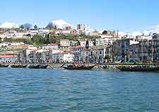 Waterfront view of houses in Porto's Ribeira district