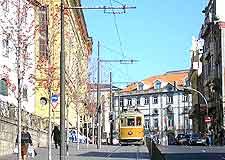 Tram travelling around Porty city