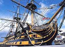 Photo of the HMS Victory at the Historic Dockyard