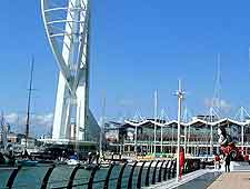 Close-up photo of the Spinnaker Tower