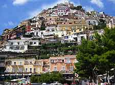 Picturesque view showing the town of Positano