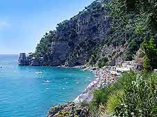 Coastline scene of Positano