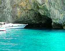Photo showing the Grotto dello Smeraldo (Eerie Emerald Grotto)