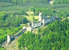 View showing Bezdez Castle