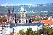 Picture showing Prague Castle and Saint Vitus Cathedral