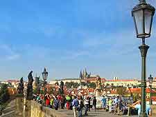 Prague Photo of pedestrians on Charles Bridge