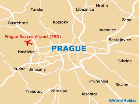 Map of Prague Ruzyne Airport PRG Orientation and Maps for PRG