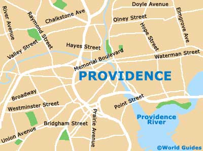 Providence Maps and Orientation: Providence, Rhode Island ... on usa map of pittsburgh pa, usa map of washington dc, usa map of st paul mn, usa map of springfield mo, usa map of knoxville tn, usa map of nashville tn, usa map of chicago il,