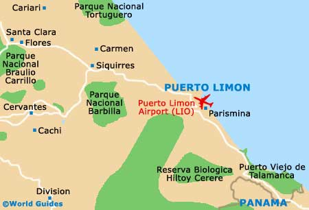 Small Puerto Limon Map