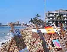 Photo of art work displayed on the Malecon Boardwalk
