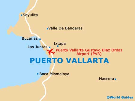 Small Puerto Vallarta Map