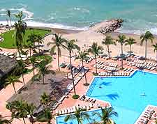 Image showing swimming pool at beach hotel