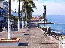 Summer picture of the Malecon and Banderas Bay