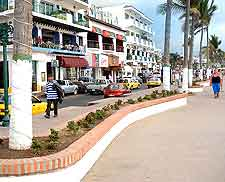Photo of stores along the Malecon Boardwalk
