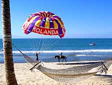 Photo of parasailing on the beach
