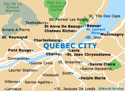 Quebec City Maps And Orientation Quebec City Canada - Map of quebec canada
