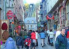 Shopping scene in Quebec City photo
