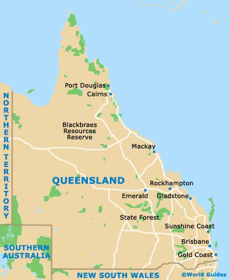 Queensland map