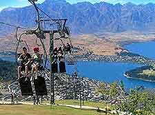 Picture of the popular gondola / chair lifts