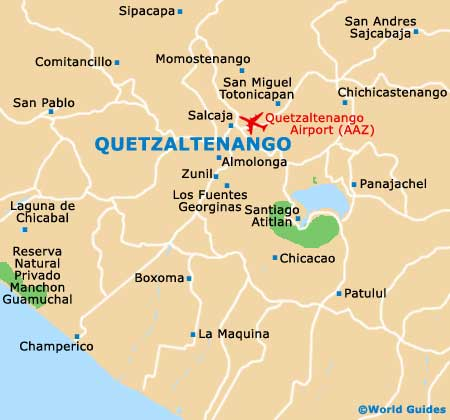 Small Quetzaltenango Map
