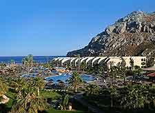 View of popular resort