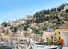 Symi waterfront view