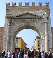 Different view of the Arco di Augusto