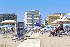 View of beachfront hotels