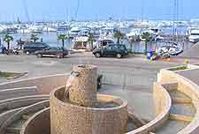 Photo of fountain at the marina