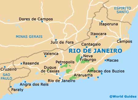 Rio Janeiro state map