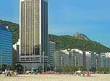 Beachfront photo of high-rise lodging