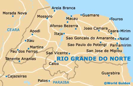 Rio Grande do Norte map