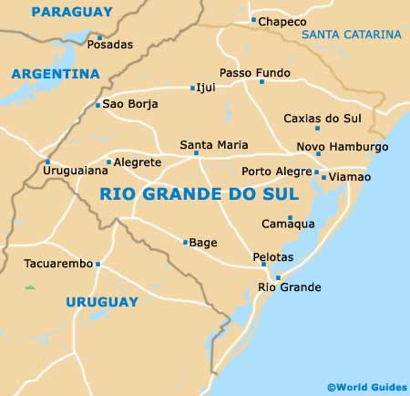 rio grande brazil map Rio Grande Do Sul State Tourism And Tourist Information rio grande brazil map