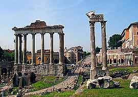 Photograph showing Rome's Forum