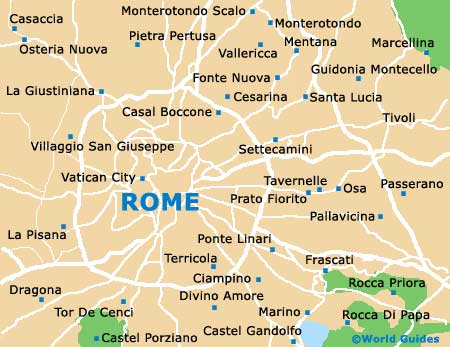 Maps of Rome, University of Rome La Sapienza: Map of Rome University ...