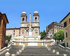 Image looking up the Spanish Steps (Scalinata di Spagna)