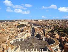 Aerial view of St. Peter's Square (Piazza San Pietro)