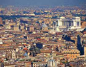 View of the city of Rome
