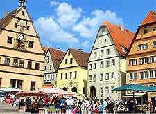 Photo of crowds in the Rothenburg ob der Tauber marketplace