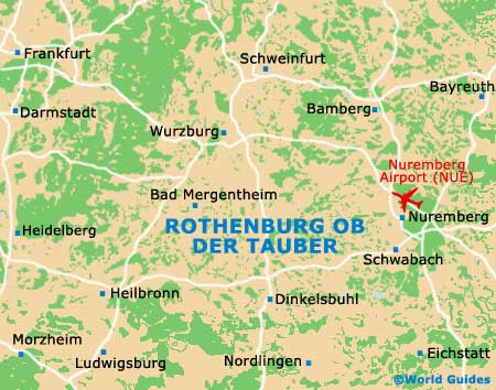 Small Rothenburg ob der Tauber Map