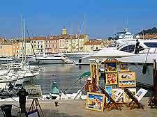 View of St. Tropez marina